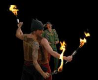 Extravagante und sagenhafte Feuershows