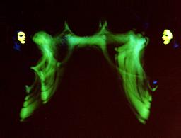 Jonglage Schwarzlicht Shows Inflammati