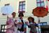 12 Nostalgische Stelzenläufer begeistern zum Marktfest, Töpfermarkt, Jubiläum und 100-Jahr Feier in Sachsen und Thüringen
